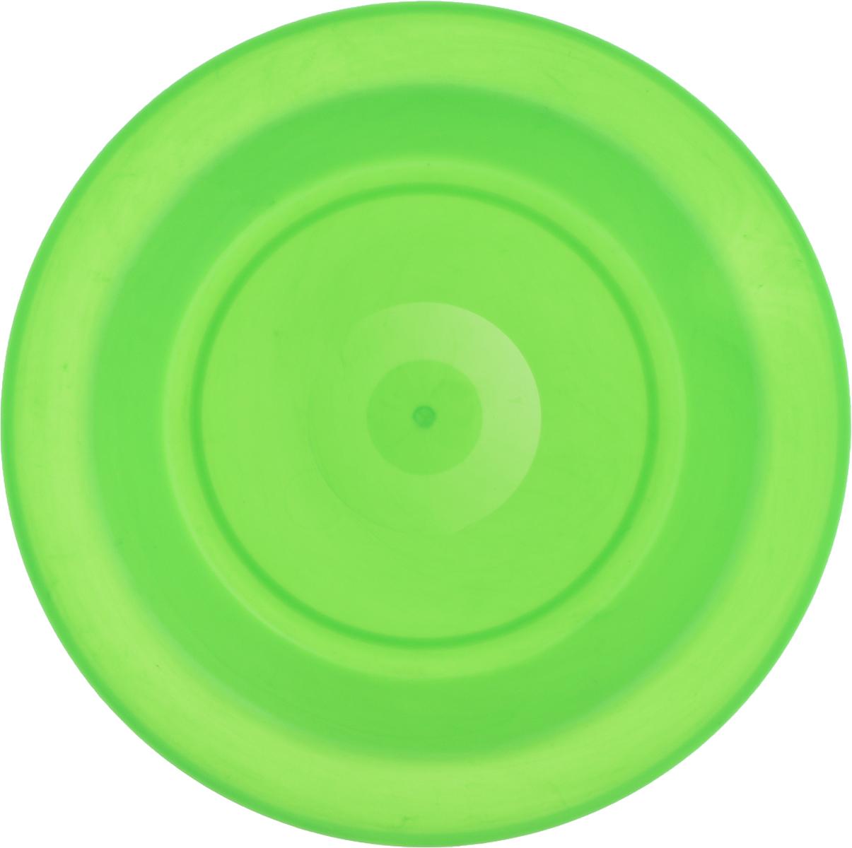 Тарелка Gotoff, цвет: зеленый, диаметр 21 смWTC-803Тарелка Gotoff изготовлена из цветного пищевого пластика и предназначена для холодной и горячей пищи. Выдерживает температурный режим в пределах от -25°С до +110°C. Посуду из пластика можно использовать в микроволновой печи, но необходимо, чтобы нагрев не превышал максимально допустимую температуру. Удобная, легкая и практичная посуда для пикника и дачи поможет сервировать стол без хлопот! Диаметр тарелки (по верхнему краю): 21 см. Высота тарелки: 3 см.