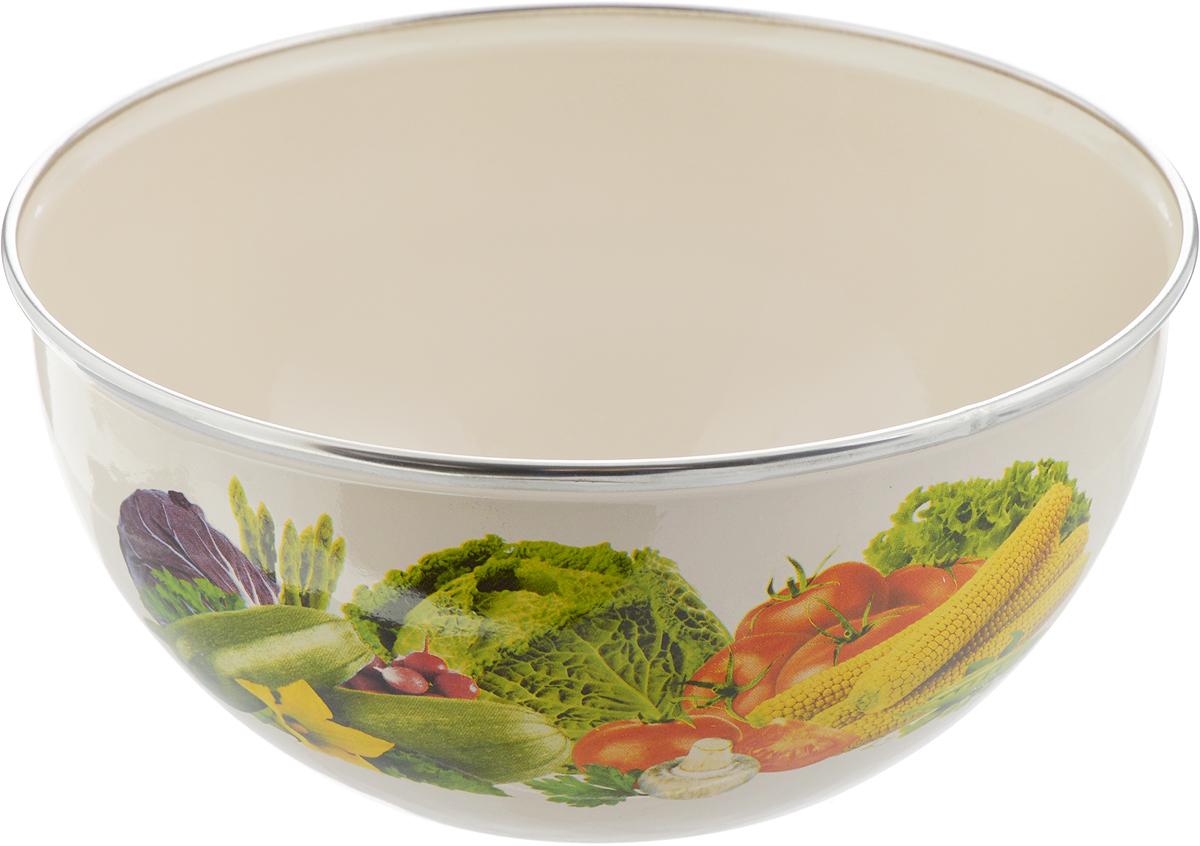 Салатник Рубин, цвет: слоновая кость, овощи, диаметр 22 см, 2 лBW04/20/04/19-20