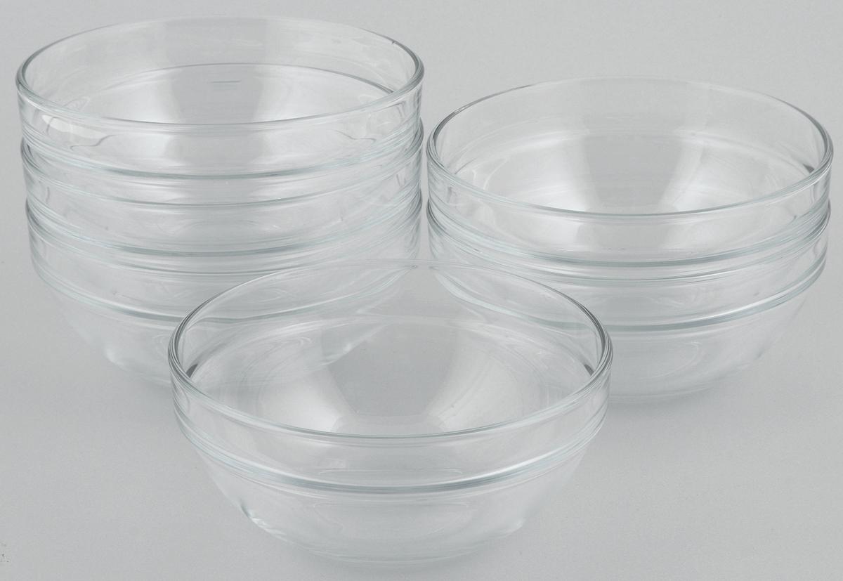 Набор салатников Pasabahce Chefs, диаметр 14 см, 6 шт53553BTНабор Pasabahce Chefs состоит из 6 салатников, выполненных из высококачественного натрий-кальций-силикатного стекла. Такие салатники прекрасно подойдут для сервировки стола и станут достойным оформлением для ваших любимых блюд. Высокое качество и функциональность набора позволят ему стать достойным дополнением к вашему кухонному инвентарю. Диаметр салатника: 14 см. Объем салатника: 500 мл.