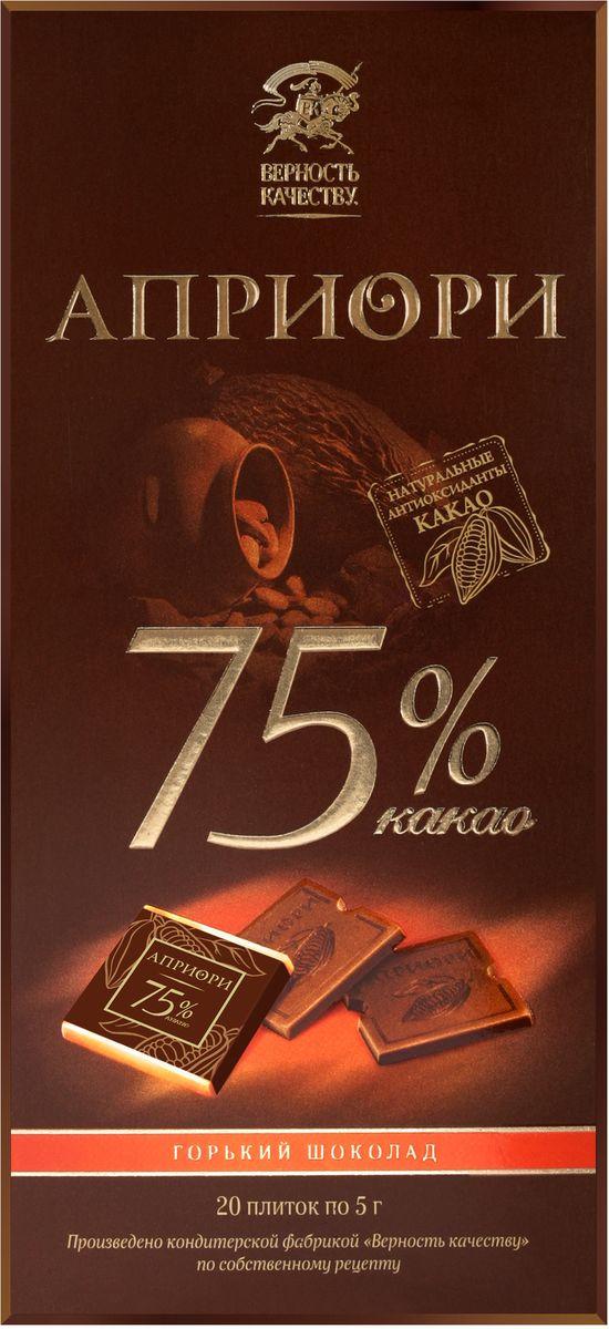 Априори горький шоколад 75%, 100 г 8252863