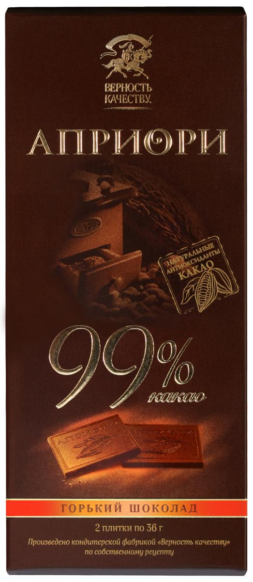 Априори горький шоколад 99%, 72 г