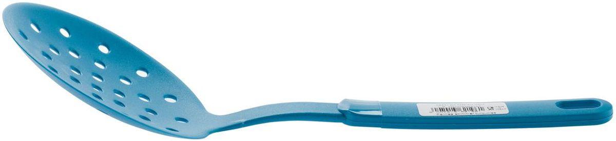 Лопатка кулинарная MOULINvilla Palmas, цвет: бирюзовый9031281PSC10Яркая кухонная лопатка MOULINvilla выполнена из высококачественного пластика, который с легкостью выдерживает ежедневные нагрузки, кроме того, это экологически чистый материал. Такая лопатка подходит для переворачивания, деления на порции и подачи на стол вторых блюд, для переворачивания мяса при жарке, при этом, не повреждая антипригарное покрытие. Лопатка MOULINvilla обладает исключительным качеством и выдерживает, поэтому займет достойное место среди аксессуаров на вашей кухне. Можно мыть в посудомоечной машине в щадящем режиме.