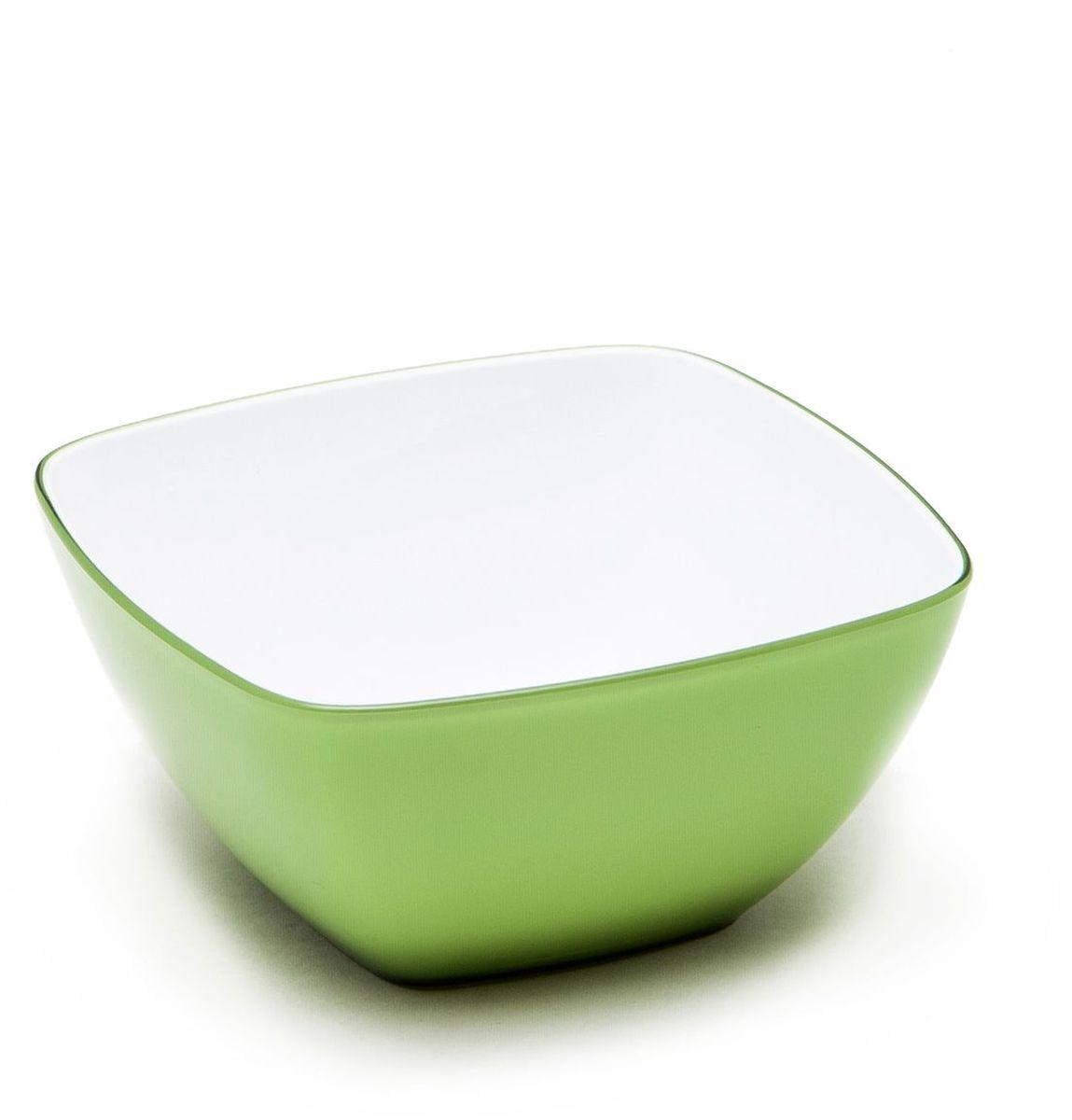 Миска MoulinVilla, цвет: зеленый, 14 х 14 смL-14GМиска компании Moulinvilla изготовлена из высококачественного акрила. Благодаря оригинальному и привлекательному дизайну выполняет не только практичную, но и декоративную функцию. Белый цвет внутренней поверхности и сочный, интенсивный цвет снаружи отлично контрастируют. В ней можно сервировать салаты, фрукты, закуски, десерты, печенье, сладости и т.д. Состав: Акрил. Можно мыть в посудомоечной машине.