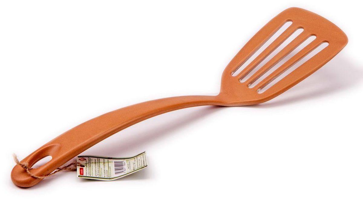 Лопатка кулинарная MoulinVilla, цвет: коричневый, длина 34,5 смTSF-19-brПосуда из инновационного материала компании Moulinvilla. Продукт сделан из экологически чистой бамбуковой фибры. Посуда обладает естественными, антибактериальными свойствами. Диапазон температур: от -20 до +120 С. Можно мыть в посудомоечной машине в щадящ