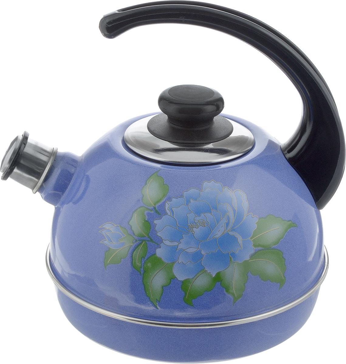 Чайник эмалированный Рубин Орхидея, со свистком, 3,5 лT04/35/08/13Чайник Рубин Орхидея выполнен из высококачественного стального проката, что обеспечивает долговечность использования. Внешнее трехслойное эмалевое покрытие Mefrit не вступает во взаимодействие с пищевыми продуктами. Такое покрытие защищает сталь от коррозии, придает посуде гладкую стекловидную поверхность и надежно защищает от кислот и щелочей. Чайник оснащен фиксированной ручкой из пластика и крышкой, которая плотно прилегает к краю. Носик чайника оснащен съемным свистком, звуковой сигнал которого подскажет, когда закипит вода. Можно мыть в посудомоечной машине. Пригоден для всех видов плит, включая индукционные. Высота чайника (с учетом ручки): 24 см. Высота чайника (без учета крышки и ручки): 14 см. Диаметр по верхнему краю: 8,7 см.