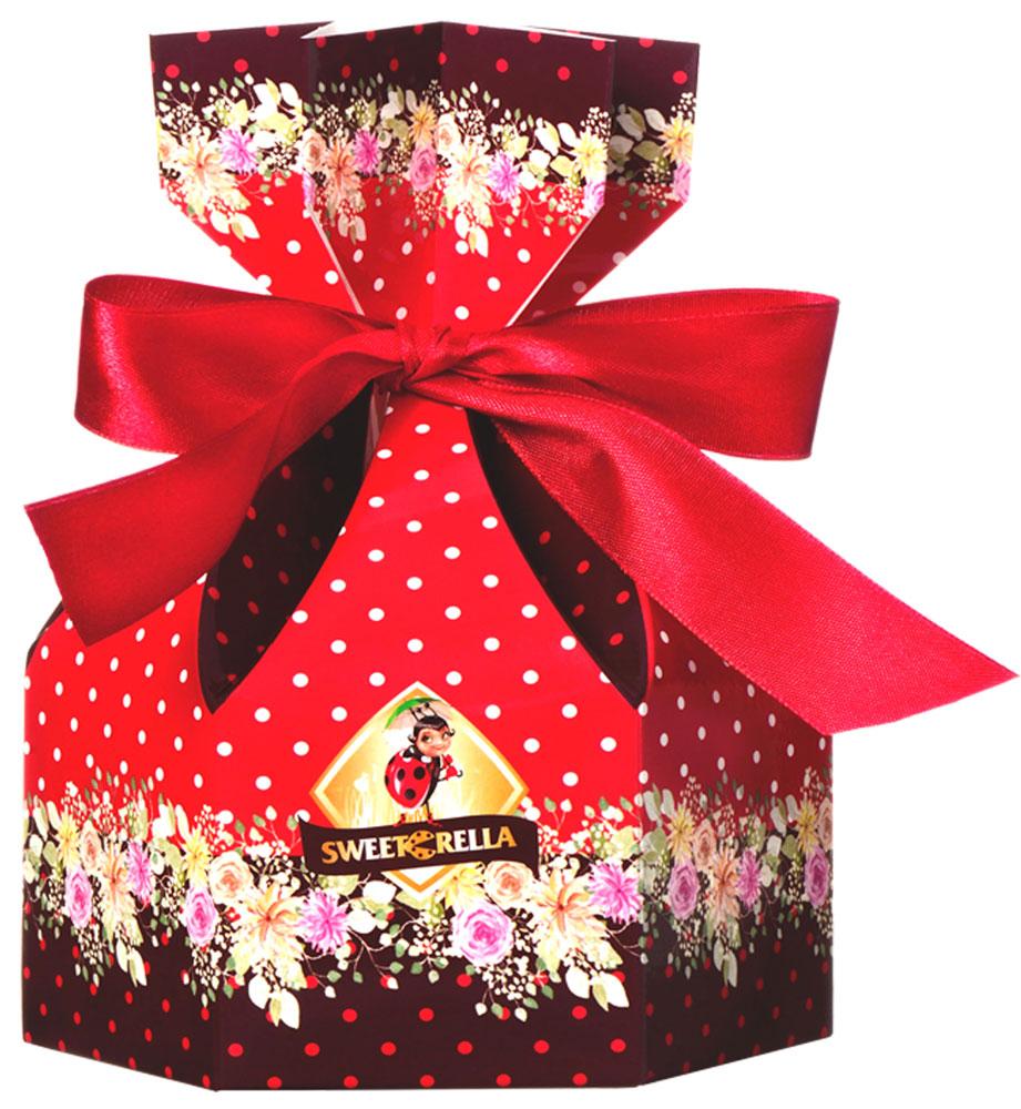 Sweeterella ассорти суфле мешок сладостей, 150 гибд003Подарок, оформленный в форме картонного мешочка, перевязанного ленточкой с весенними цветами, – отличный вариант в качестве презента или дополнение к подарку. В мешочке ассорти суфле, покрытое нежным молочным шоколадом. Ассорти суфле, глазированное шоколадной глазурью со вкусами: - Ваниль; - Банан; - Лесные ягоды; - Апельсин; - Мокко. Уважаемые клиенты! Обращаем ваше внимание, что полный перечень состава продукта представлен на дополнительном изображении.
