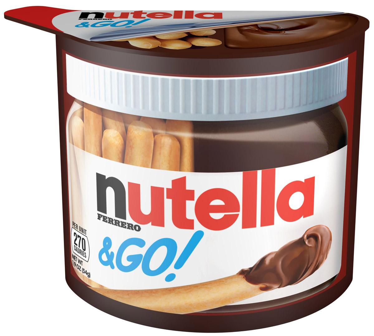 Nutella&Go: набор из хлебных палочек и пасты ореховой Nutella с добавлением какао, 52 г80050100Nutella обладает неповторимым вкусом лесных орехов и какао, а ее нежная кремовая текстура делает вкус еще интенсивнее. Секрет уникального вкуса в особенном рецепте, отборных ингредиентах и тщательном приготовлении. При производстве Nutella не используются консерванты и красители. Сегодня Nutella является одной из самых узнаваемых и любимых марок в мире, продуктом, продажи которого составляют треть годового оборота компании «Ferrero». Хороший день начинается с Nutella!