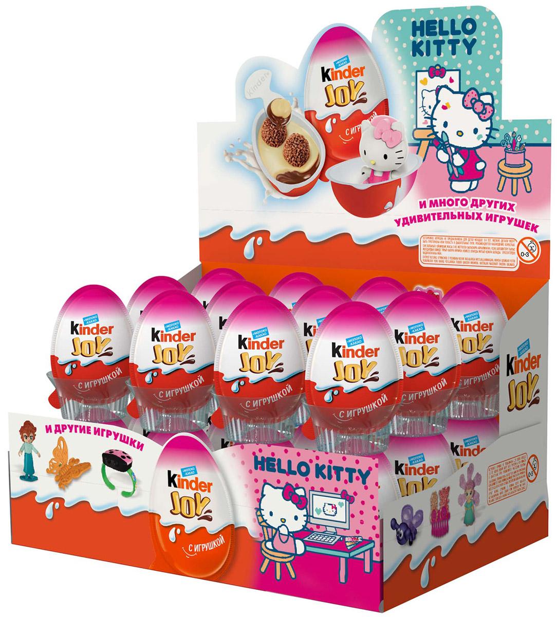 Kinder Joy Hello Kitty кондитерское изделие с игрушкой 21 г80768258Кондитерское изделие Kinder Joy с игрушкой: молочно-ореховая паста с какао и с двумя вафельными шариками, покрытыми какао.