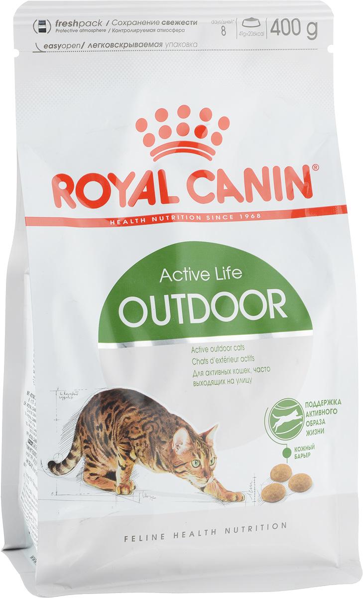 Корм сухой Royal Canin Outdoor 30, для активных кошек, часто бывающих на улице, 400 г494004Сухой корм Royal Canin Outdoor 30 - полнорационное питание для активных кошек в возрасте от 1 до 7 лет, часто бывающих на улице. Кошка, бывающая на улице, обычно ведет активный образ жизни и тратит много энергии, однако вместе с тем она подвержена негативному воздействию многих факторов: Кошка, которая часто выходит на прогулку, подвергается риску инфекционных и паразитарных заболеваний, а также травм при драках, поэтому ей требуется надежная имунная защита. Она расходует много энергии и должна адаптироваться к изменениям температуры окружающей среды. Повышенная активность кошки требует ловкости и крепких суставов. Для поддержания активности. Корм обеспечивает оптимальное потребление энергии, укрепляет естественную защиту организма и поддерживает здоровье суставов кошки, которая сохраняет высокую активность и часто подвергается риску на улице. Укрепление естественной защиты организма: укрепляет естественную защиту организма кошки благодаря...
