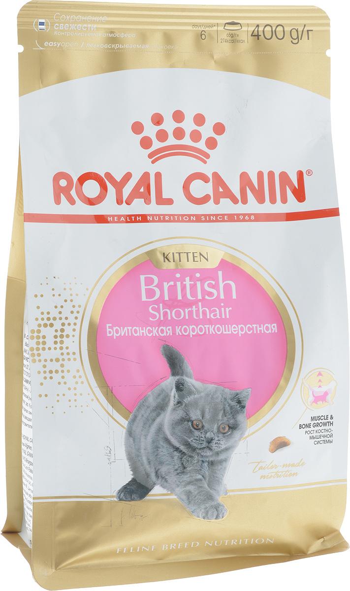 "Корм сухой Royal Canin ""British Shorthair Kitten"", для британских короткошерстных котят в возрасте от 4 до 12 месяцев, 400 г 541004"