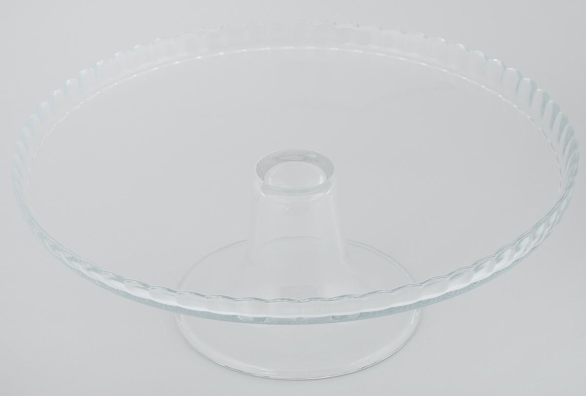 Блюдо на ножке Pasabahce Patisserie, диаметр 28 см. 98259BV98259BVБлюдо на ножке Pasabahce Patisserie, выполненное из высококачественного стекла, оригинально украсит праздничный стол и поможет красиво расположить торт или пирог. Блюдо с рифлеными краями установлено на изящную ножку. Функциональность и эстетичность блюда Pasabahce Patisserie порадует любую хозяйку.