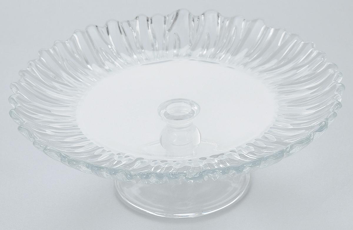 Блюдо на ножке Pasabahce Аврора, диаметр 20,5 см95834BБлюдо на ножке Pasabahce Аврора, выполненное из высококачественного стекла, оригинально украсит праздничный стол и поможет красиво расположить торт или пирог. Блюдо с рифлеными краями установлено на изящную ножку. Функциональность и эстетичность блюда Pasabahce Аврора порадует любую хозяйку. Диаметр блюда: 20,5 см. Высота блюда: 6,75 см.