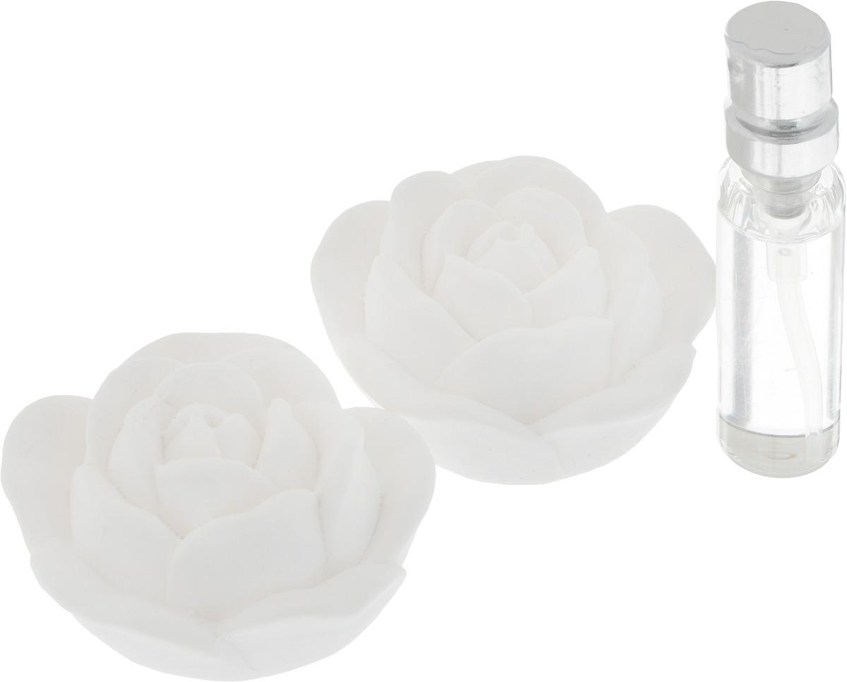 Набор ароматический Феникс-Презент Роза, 3 предмета. 4385143851Набор Феникс-Презент Роза состоит из двух ароматических украшений, выполненных из гипса, и синтетического аромамасла без содержания спирта с запахом ванили. Аромат предметов набора разносится медленно, сохраняется долгое время. Ароматизаторы замечательно устраняют неприятные запахи и придают дому свежесть. Кроме того, такой набор станет замечательным подарком для родных и близких. Размер украшения: 5 х 5 х 2,5 см. Объем аромамасла: 5 мл.