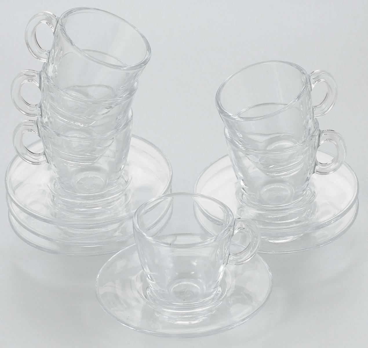Набор чайный Pasabahce Aqua, 12 предметов. 95756BT95756BTЧайный набор Pasabahce Aqua состоит из шести чашек и шести блюдец. Предметы набора изготовлены из прочного натрий-кальций-силикатного стекла. Изящный чайный набор великолепно украсит стол к чаепитию и порадует вас и ваших гостей ярким дизайном и качеством исполнения.