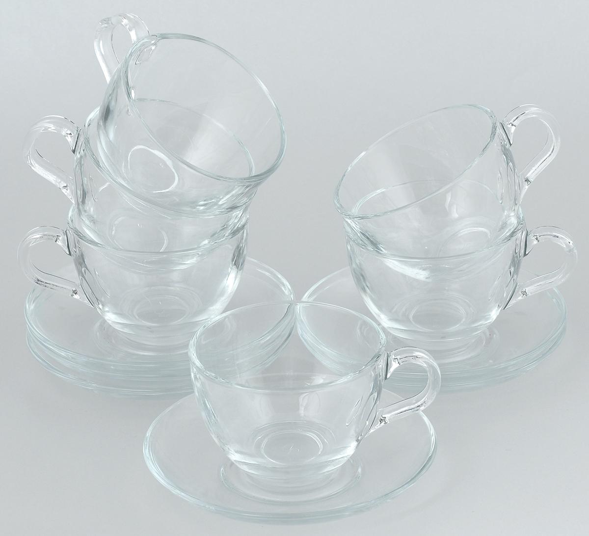 Набор чайный Pasabahce Basic, 12 предметов. 97948BT97948BTЧайный набор Pasabahce Basic состоит из шести чашек и шести блюдец. Предметы набора изготовлены из прочного натрий-кальций-силикатного стекла. Изящный чайный набор великолепно украсит стол к чаепитию и порадует вас и ваших гостей ярким дизайном и качеством исполнения. Объем чашки: 215 мл. Высота чашки: 6,5 см. Диаметр чашки: 9 см. Диаметр блюдца: 13,5 см.
