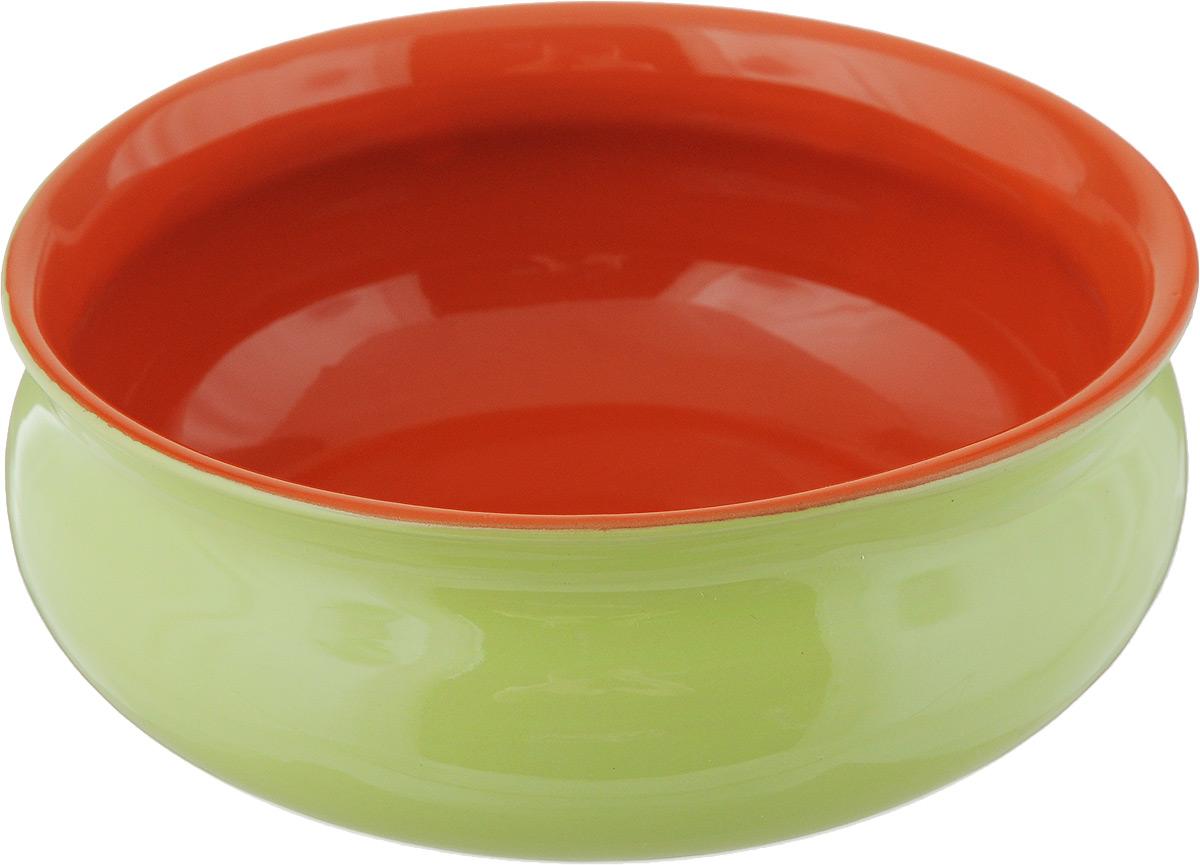 Тарелка глубокая Борисовская керамика Скифская, цвет: салатовый, оранжевый, 500 млРАД14458194_салатовый, оранжевыйГлубокая тарелка Борисовская керамика Скифская выполнена из керамики. Изделие сочетает в себе изысканный дизайн с максимальной функциональностью. Она прекрасно впишется в интерьер вашей кухни и станет достойным дополнением к кухонному инвентарю. Такая тарелка подчеркнет прекрасный вкус хозяйки и станет отличным подарком. Можно использовать в духовке и микроволновой печи. Диаметр тарелки (по верхнему краю): 14 см. Объем: 500 мл.