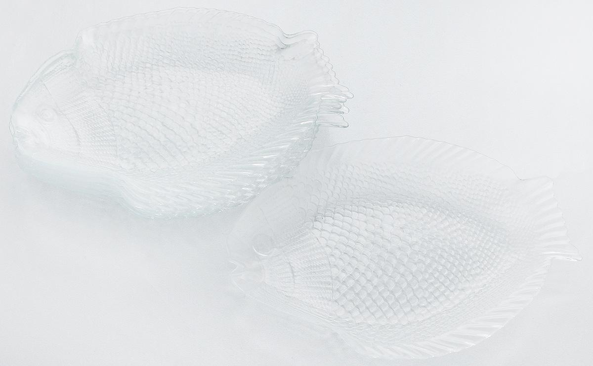Набор тарелок Pasabahce Marine, 26 х 20,6 см, 6 шт10257BНабор Pasabahce Marine состоит из 6 тарелок, выполненных из высококачественного натрий-кальций-силикатного стекла в форме рыбы. Изделия предназначены для красивой сервировки различных блюд. Набор сочетает в себе изысканный дизайн с максимальной функциональностью. Размер тарелки: 26 х 20,6 см.