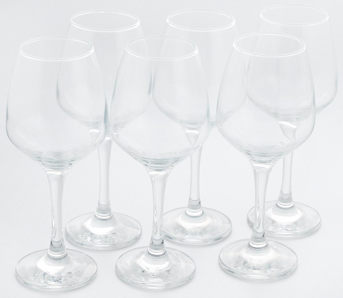Набор бокалов для вина Pasabahce Isabella, 350 мл, 6 шт440271BНабор Pasabahce Isabella состоит из 6 бокалов, выполненных из прочного натрий-кальций-силикатного стекла. Изделия оснащены высокими ножками и предназначены для подачи вина. Они сочетают в себе элегантный дизайн и функциональность. Набор бокалов Pasabahce Isabella прекрасно оформит праздничный стол и создаст приятную атмосферу за романтическим ужином. Такой набор также станет хорошим подарком к любому случаю.
