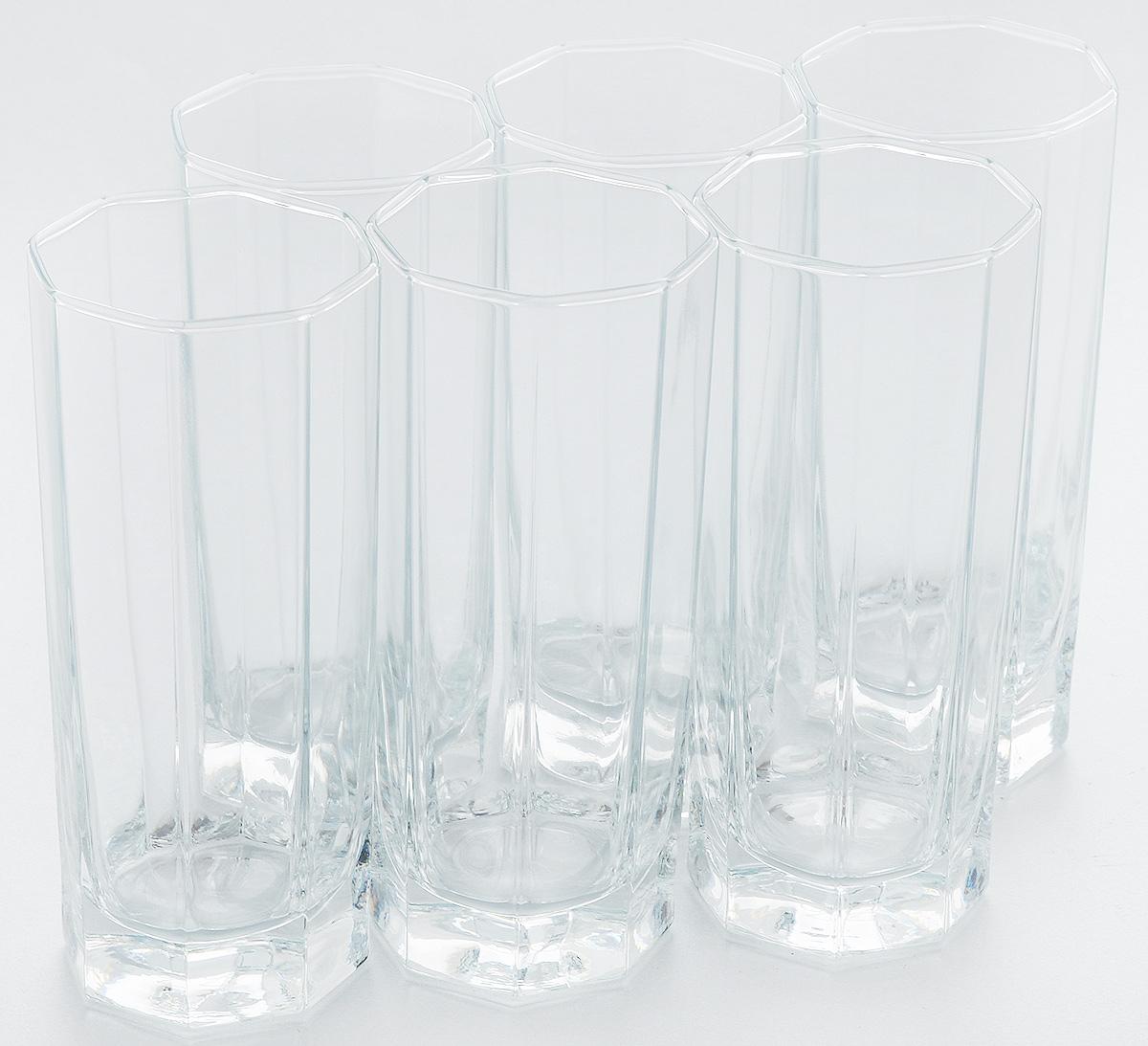 Набор стаканов для коктейлей Pasabahce Kosem, 264 мл, 6 шт42078BНабор Pasabahce, состоящий из шести стаканов, несомненно, придется вам по душе. Стаканы предназначены для подачи коктейлей, сока, воды и других напитков. Они изготовлены из прочного высококачественного прозрачного стекла и сочетают в себе элегантный дизайн и функциональность. Благодаря такому набору пить напитки будет еще вкуснее. Набор стаканов Pasabahce идеально подойдет для сервировки стола и станет отличным подарком к любому празднику. Высота стакана: 14 см.