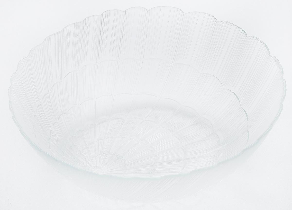 Салатник Pasabahce Atlantis, диаметр 27 см10251BСалатник из закаленного стекла Atlantis d=270 мм h=90 мм (прозрачное рифленое стекло)