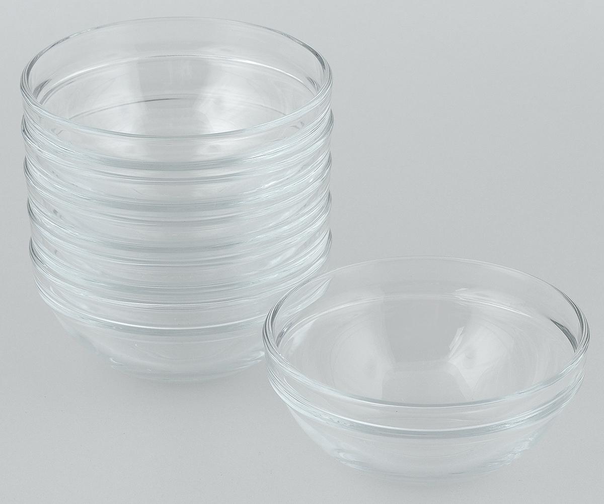 Набор салатников Pasabahce Chefs, диаметр 9 см, 6 шт53483T/Набор Pasabahce Chefs состоит из 6 салатников, выполненных из высококачественного натрий-кальций-силикатного стекла. Такие салатники прекрасно подойдут для сервировки стола и станут достойным оформлением для ваших любимых блюд. Высокое качество и функциональность набора позволят ему стать достойным дополнением к вашему кухонному инвентарю. Диаметр салатника: 9 см.