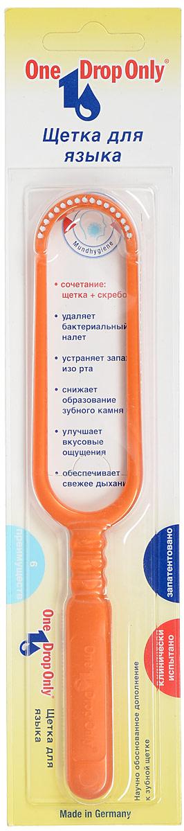 Щетка для удаления налета с языка One Drop Only, цвет: оранжевый013.000_оранжевыйЩетка для удаления налета с языка в блистере