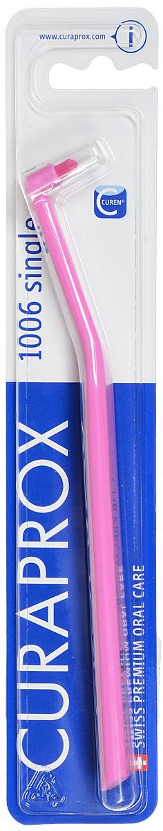 """Curaprox Монопучковая щетка Single & Sulcular, цвет: розовый, 6 ммCS1006_розовыйМонопучковая щетка CURAPROX CS """"Single"""" для очистки труднодоступных поверхностей зубов и зубодесневой борозды. Длина пучка 6 мм. Подходит для очистки отдельно стоящих зубов, ретромолярной зоны (за 7,8 молярами). Благодаря закругленной щетине, щетка легко адаптируется к анатомии десневого края, не оказывает давления."""
