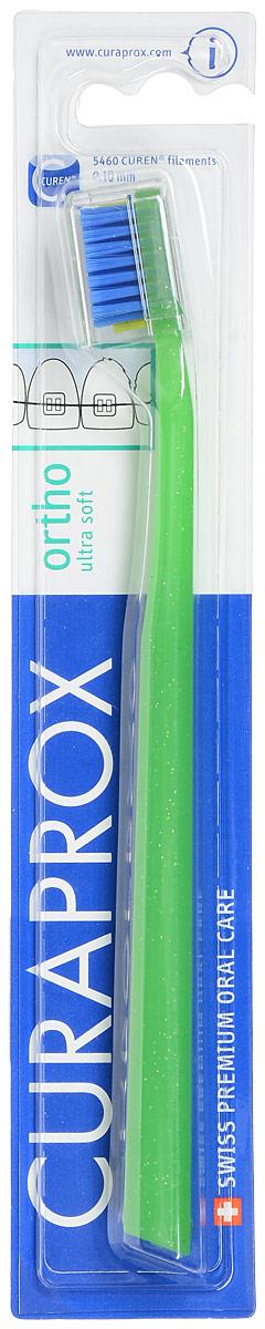 Curaprox CS 5460 ortho Ортодонтическая щетка с углублениемCS5460 ortho_салатовый, синийЩетка, со специальным углублением на поверхности, предназначена для ежедневного очищения зубов при наличии брекет-системы. Щетка содержит 5460 мягких активных щетинок (диаметр 0,10 мм) и обеспечивает качественное и нетравматичное удаление зубного налета.