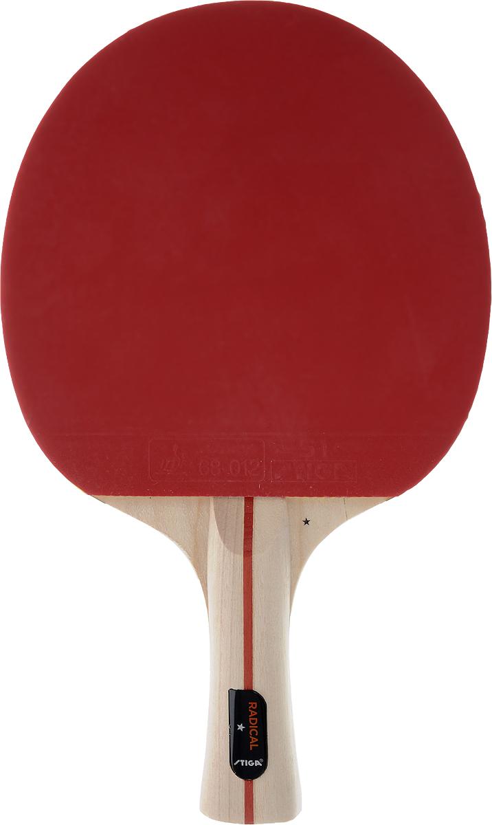 Ракетка для настольного тенниса Stiga Radical203365/172101Универсальная ракетка Stiga Radical для игры в настольный теннис прекрасно подойдет любителям и начинающим игрокам. Изготовлена из прочных качественных материалов, удобно лежит в руке и гарантирует хорошее чувство мяча и наиболее комфортную игру. Количество слоев основания: 5. Толщина губки: 1,7 мм. Скорость: 40 Вращение: 30 Контроль: 90
