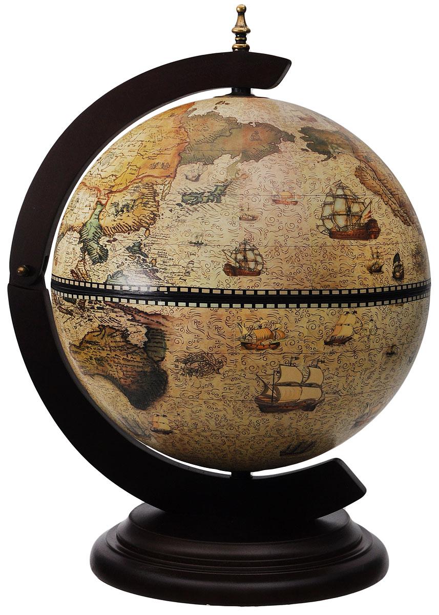 Глобус-бар настольный В поисках приключений, диаметр 33 см47038_В поисках приключений