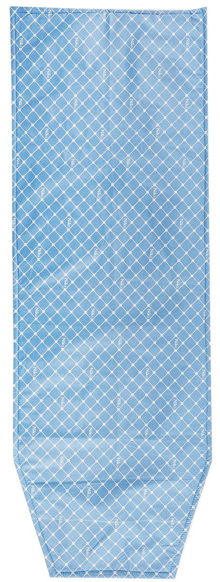Чехол для гладильной доски Nika, антипригарный, с поролоном, цвет: синий, белый, 129 х 48 смЧПА_синий, белыйЧехол Nika, выполненный из хлопка с поролоном, продлит срок службы вашей гладильной доски. Чехол снабжен стягивающим шнуром, при помощи которого вы легко отрегулируете оптимальное натяжение и зафиксируете чехол на рабочей поверхности гладильной доски. Чехол выполнен в приятной цветовой гамме, что оживит внешний вид вашей гладильной доски. Размер чехла: 129 х 46 см. Максимальный размер доски: 125 х 40 см.