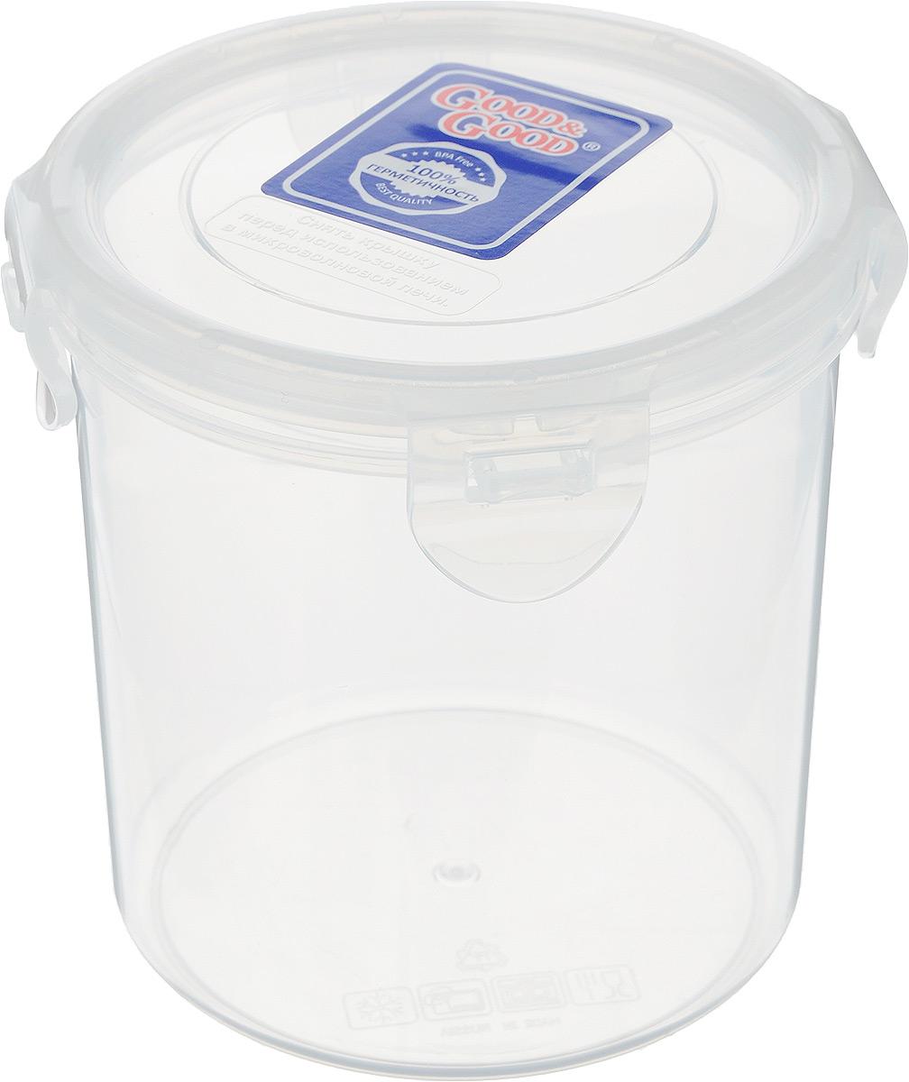 Контейнер для пищевых продуктов Good&Good, цвет: прозрачный, 780 млR2-2Контейнер Good&Good, изготовленный из высококачественного полипропилена, предназначен для хранения любых пищевых продуктов. Крышка с силиконовой вставкой герметично защелкивается специальным механизмом. Изделие устойчиво к воздействию масел и жиров, легко моется. Прозрачные стенки позволяют видеть содержимое. Контейнер имеет возможность хранения продуктов глубокой заморозки, обладает высокой прочностью. Контейнер Good&Good удобен для ежедневного использования в быту. Можно мыть в посудомоечной машине и использовать в холодильнике. Размер контейнера (с учетом крышки): 11 х 11 х 12 см.