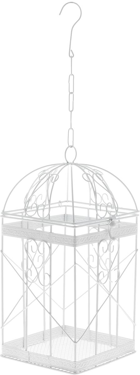 Клетка декоративная Magic Home Узорчатая, 14 х 14 х 30 см44160Декоративная клетка Magic Home Узорчатая выполнена из высококачественного металла. Изделие украшено изящными коваными узорами и дополнено крышкой, которая закрывается на специальный замок. Сверху клетки имеется крючок, за который ее можно повесить в любое удобное место. Такая клетка подойдет для декора интерьера дома или офиса. Кроме того, это отличный вариант подарка для ваших близких и друзей. Размер клетки: 14 х 14 х 30 см.