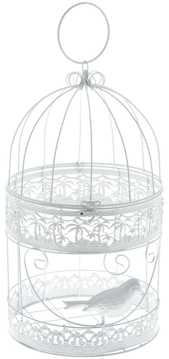 Клетка декоративная Magic Home Белая птица, 19 х 19 х 34 см44158Декоративная клетка Magic Home Белая птица выполнена из высококачественного металла. Изделие украшено изящными коваными узорами и дополнено крышкой, которая закрывается на специальный замок. Сверху клетки имеется крючок, за который ее можно повесить в любое удобное место. Такая клетка подойдет для декора интерьера дома или офиса. Кроме того, это отличный вариант подарка для ваших близких и друзей. Размер клетки: 19 х 19 х 34 см.