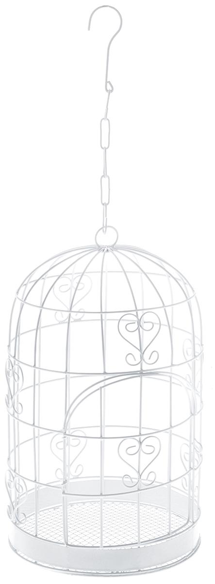 Клетка декоративная Magic Home Завитки, 17 х 17 х 30 см44161Декоративная клетка Magic Home Завитки выполнена из высококачественного металла. Изделие украшено изящными коваными узорами и дополнено декоративной дверцей. Сверху клетки имеется крючок, за который ее можно повесить в любое удобное место. Такая клетка подойдет для декора интерьера дома или офиса. Кроме того, это отличный вариант подарка для ваших близких и друзей. Размер клетки: 17 х 17 х 30 см.