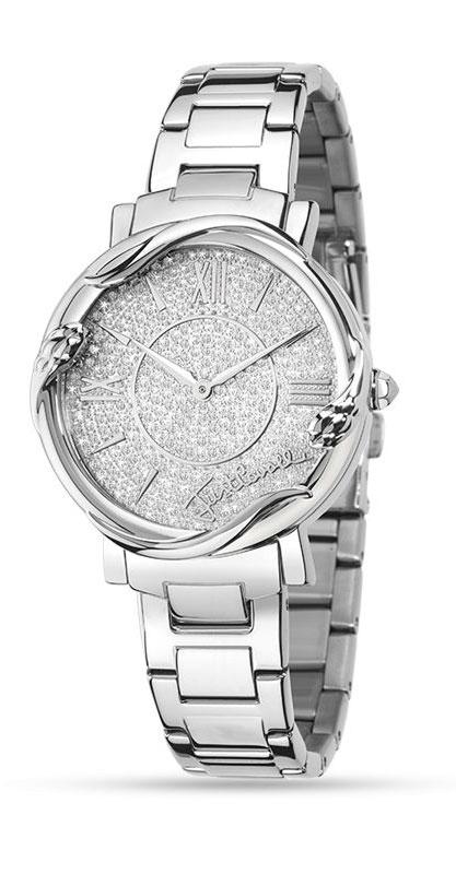 Наручные часы женские Just Cavalli Just mirage, цвет: серебристый. R7253551505R7253551505Наручные часы Just cavalli, корпус и задняя крышка из стали, стразы из стекла