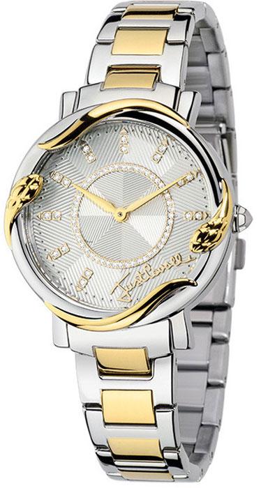 Наручные часы женские Just Cavalli Just mirage, цвет: серебристо-золотистый. R7253551503R7253551503Наручные часы Just cavalli, корпус и задняя крышка из стали, стразы из стекла, PVD покрытие