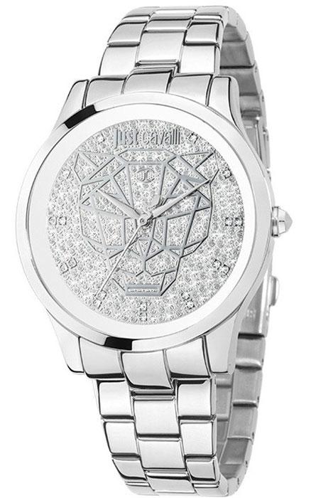 Наручные часы женские Just Cavalli Just linear, цвет: серебристый. R7253558505R7253558505Наручные часы Just cavalli, корпус и задняя крышка из стали, стразы из стекла