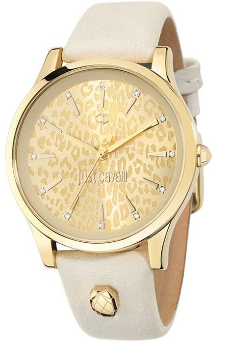 Наручные часы женские Just Cavalli Just linear, цвет: белый. R7251558503R7251558503Наручные часы Just cavalli, корпус и задняя крышка из стали, PVD покрытие золотом, стразы из стекла