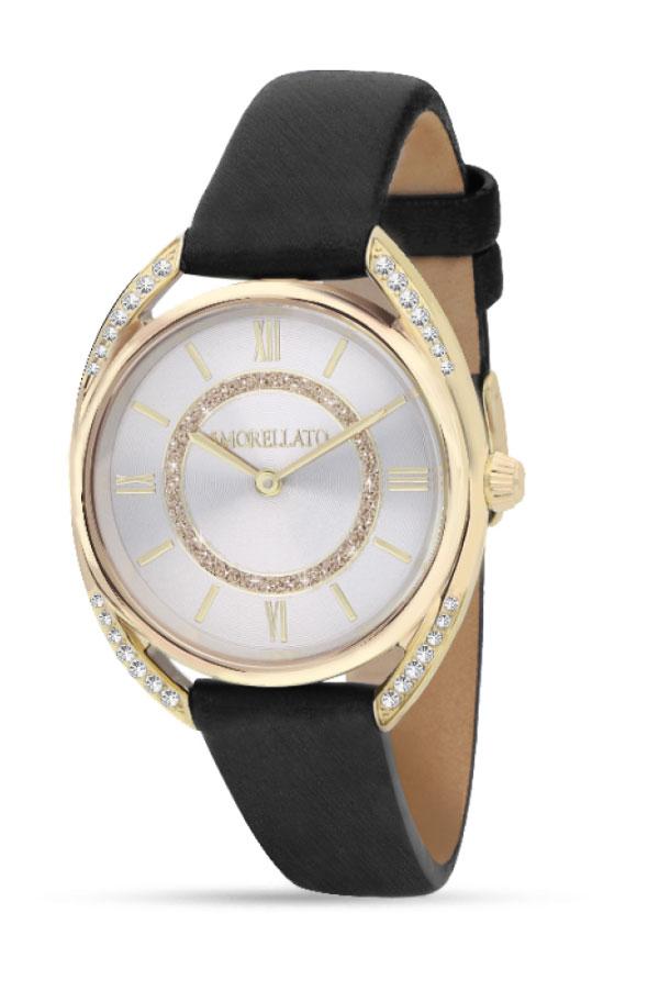 Наручные часы женские Morellato Tivoli, цвет: черный. R0151137503R0151137503Наручные часы Morellato, корпус и задняя крышка из стали, стразы из стеклаб PVD покрытие