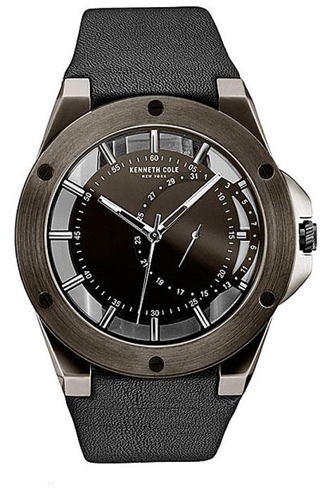 Наручные часы мужские Kenneth Cole Transparency, цвет: черный. 1003078510030785Наручные часы Kenneth Cole, корпус и задняя крышка из стали