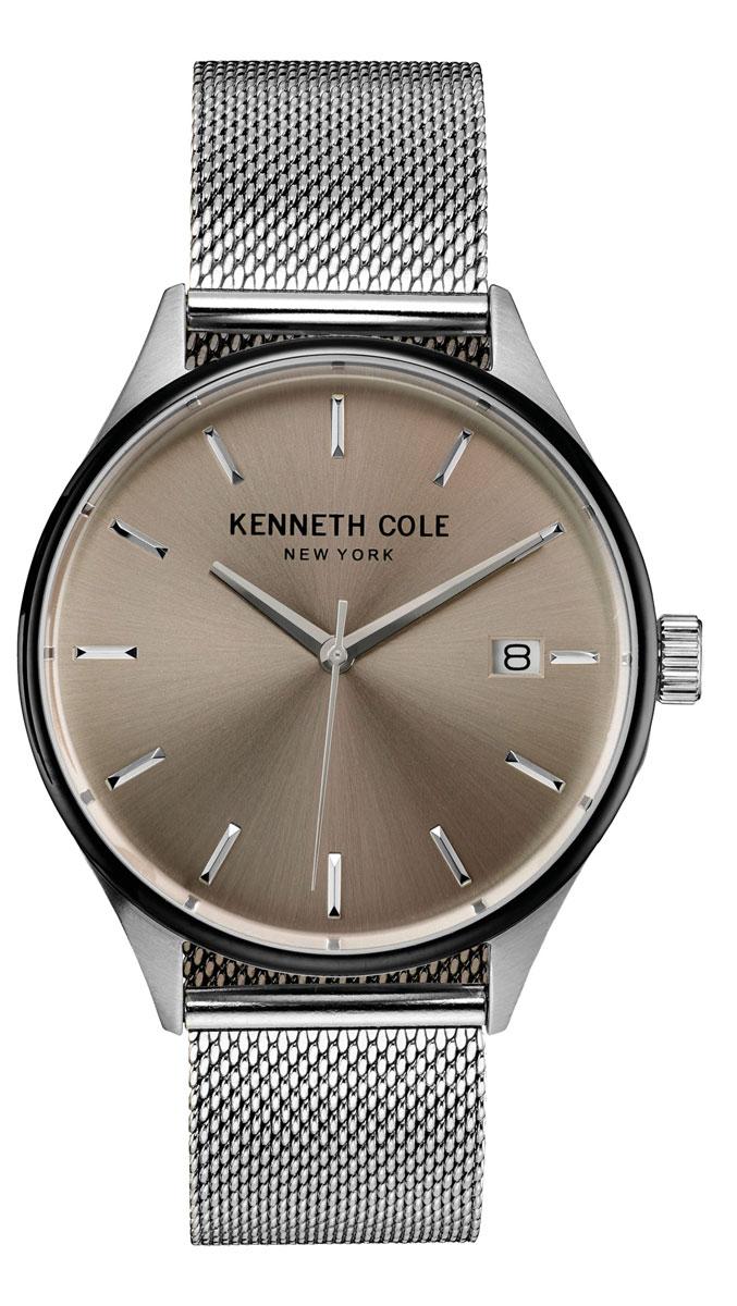Наручные часы мужские Kenneth Cole Classic, цвет: серебристый. 1003083810030838Наручные часы Kenneth Cole, корпус и задняя крышка из стали