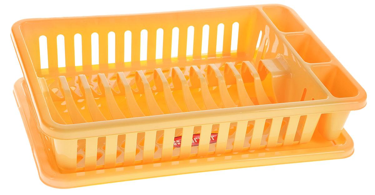 Сушилка для посуды Curver Мини, с поддоном, цвет: желтый, 42 х 26,5 х 8,2 см13402-244Сушилка для посуды Curver Мини изготовлена из высококачественного прочного пластика. Изделие оснащено пластиковым поддоном для стекания воды и содержит секции для вертикальной сушки посуды и столовых приборов. Такая сушилка не займет много места на кухне и поможет аккуратно хранить вашу посуду. Размер сушилки: 42 см х 26,5 см х 8,2 см. Размер поддона: 42,5 см х 27,5 см х 1,2 см.