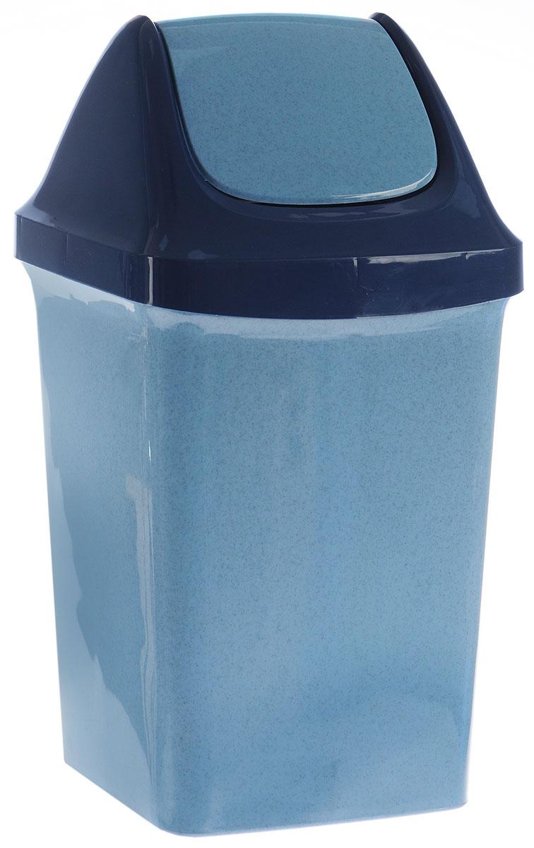 Контейнер для мусора Idea Свинг, цвет: синий, голубой, 9 лМ 2461_серо-голубой, синийКонтейнер для мусора Idea Свинг изготовлен из прочного полипропилена (пластика). Контейнер снабжен удобной съемной крышкой с подвижной перегородкой. Благодаря лаконичному дизайну такой контейнер идеально впишется в интерьер и дома, и офиса.