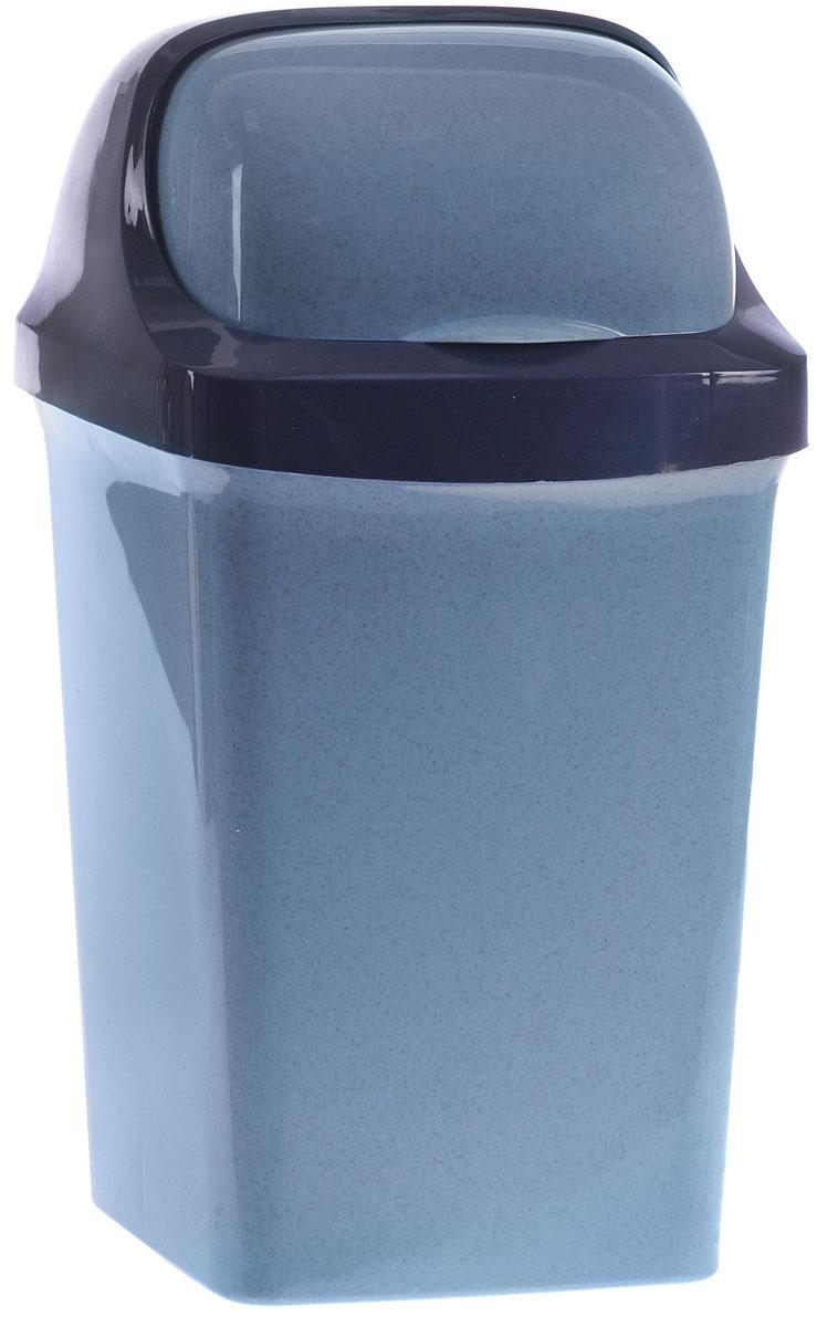 Контейнер для мусора М-пластика Ролл Топ, цвет: синий, 9 лМ 2465Контейнер для мусора М-пластика Ролл Топ изготовлен из прочного цветного пластика. Контейнер снабжен удобной съемной крышкой с подвижной перегородкой. В нем удобно хранить мусор. Благодаря лаконичному дизайну такой контейнер идеально впишется в интерьер дома, офиса, дачи.