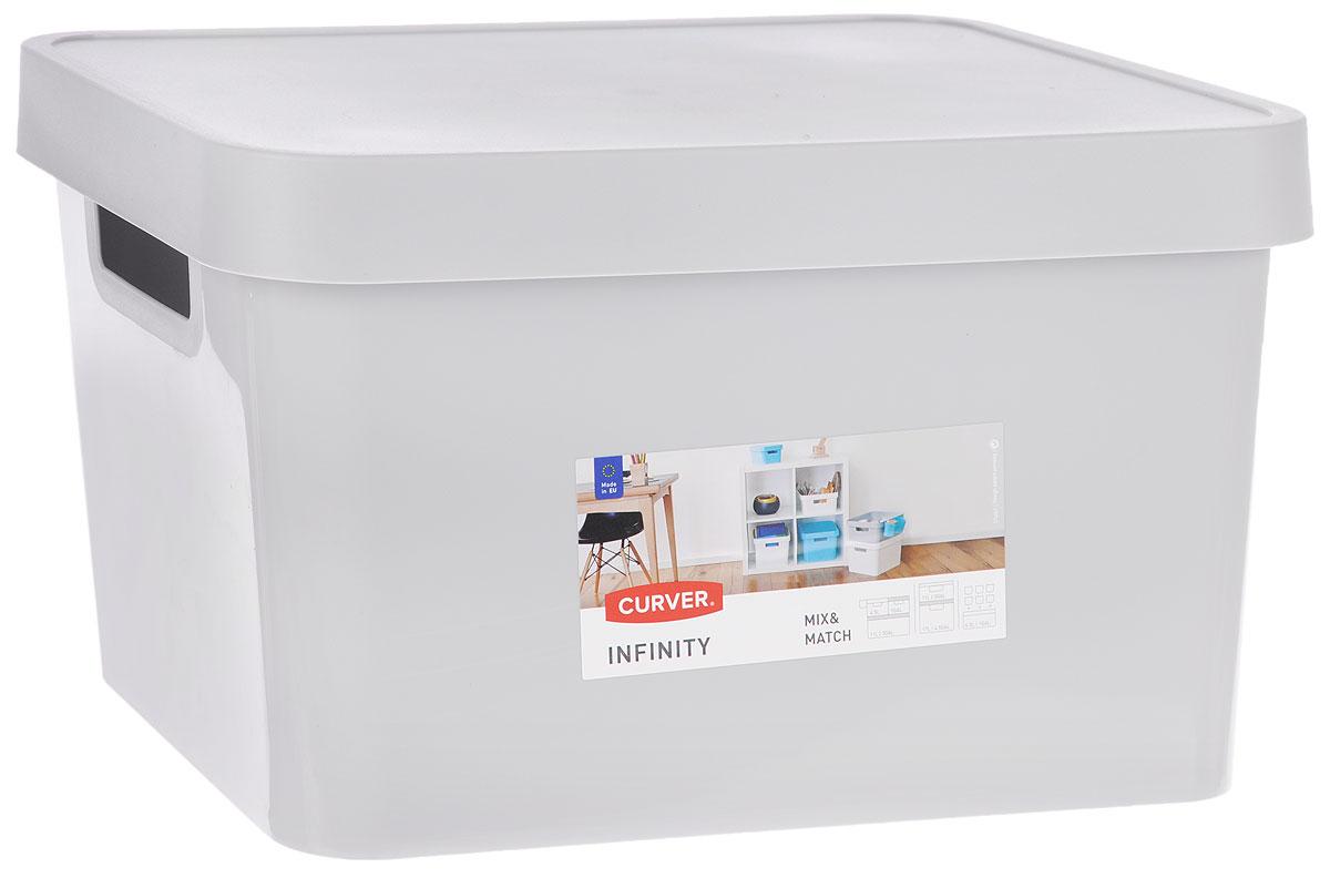 Коробка для хранения Curver Infinity, с крышкой, цвет: серый, 17 л. 04743-099-0104743-099-01Коробка для хранения Curver Infinity, с крышкой, цвет: серый, 17 л. 04743-099-01