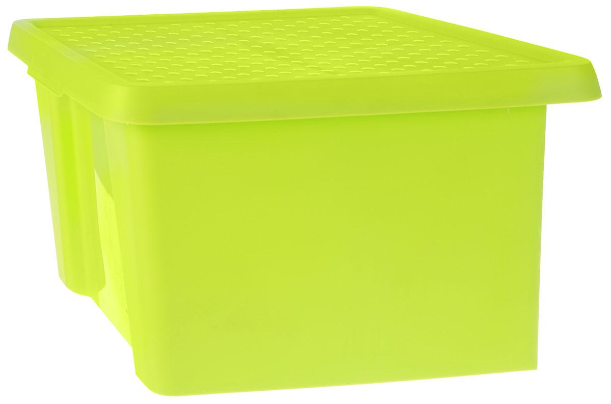 Коробка для хранения Curver Essentials, с крышкой, цвет: салатовый, 26 л00755-598-00Коробка для хранения Curver Essentials выполнен из высококачественного пластика. Она идеально подойдет для хранения вещей дома, на даче или в гараже. Изделие оснащено крышкой и двумя эргономичными ручками для переноски. Контейнер Essentials очень вместителен и поможет вам хранить все необходимые вещи в одном месте. Объем коробки: 26 л. Размер коробки (с учетом крышки): 44 х 34 х 27 см.