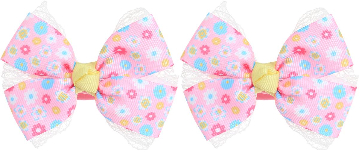 Babys Joy Резинка для волос Бантик цвет розовый желтый голубой белый 2 шт MN 134-2MN 134/2_розовый, голубой, белый, цветыРезинка для волос Babys Joy выполнена в виде банта из декоративной ленты. Цвет банта - розовый в разноцветный цветочек Резинка позволит не только убрать непослушные волосы с лица, но и придать образу немного романтичности и очарования. В упаковке: 2 резинки. Рекомендовано для детей старше трех лет.