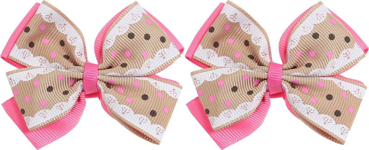 Babys Joy Резинка для волос Бант цвет розовый бежевый белый 2 шт MN 75/2MN 75/2_розовый, бежевый, белыйРезинка для волос Babys Joy выполнена в виде двойного банта из декоративных лент разного цвета, розового и коричневого с розовыми и темно-коричневым горохом. Резинка позволит не только убрать непослушные волосы с лица, но и придать образу немного романтичности и очарования. В упаковке: 2 резинки. Рекомендовано для детей старше трех лет.