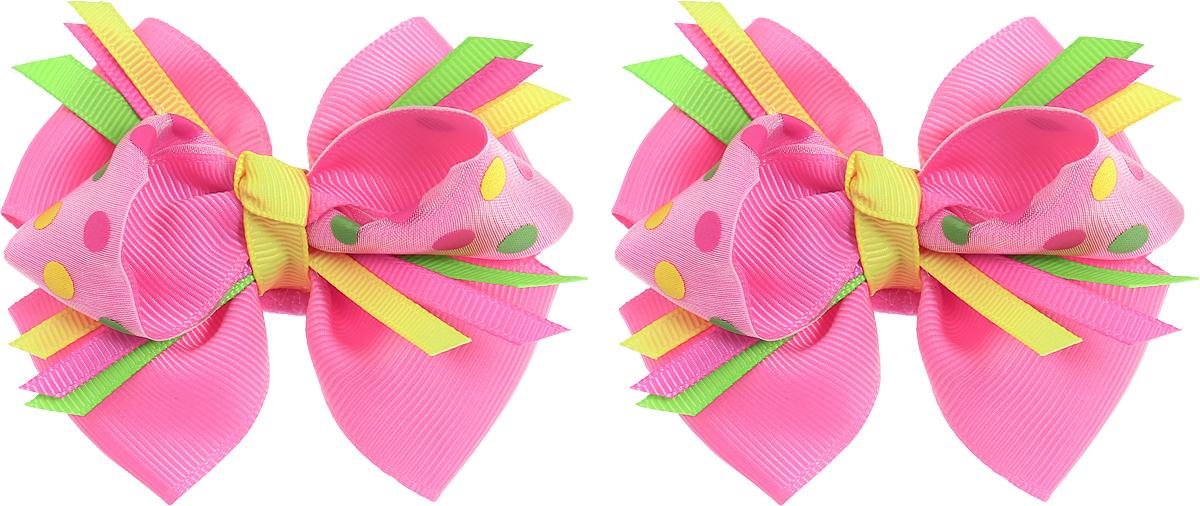 Babys Joy Резинка для волос Бант в горошек цвет розовый желтый зеленый 2 шт MN 133/2MN 133/2_розовый, желтый, зеленый, в горошекРезинка для волос Babys Joy выполнена в виде двойного банта из декоративных лент розового цвета и розового в цветной горох. Резинка позволит не только убрать непослушные волосы с лица, но и придать образу немного романтичности и очарования. В упаковке: 2 резинки. Рекомендовано для детей старше трех лет.